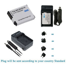 EN-EL12 Battery + Car/Home Charger for Nikon Coolpix P330 P340 AW110 AW120 AW130