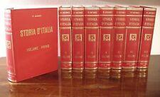 STORIA D'ITALIA - 8 VOLUMI - di P Giudici - Nerbini editrice - Anno 1961