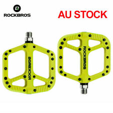 ROCKBROS Bicycle Pedals Mountain Bike Bearing Wide Nylon Cycling Pedals Cyan AU
