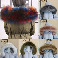 Women Winter Thicken Faux Fur Collar For Coat Down Jacket Hood Hat Scarf Shawl