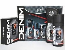 DENIM BLACK Set After Shave 100ml + Deo Spray 150ml + Shower Gel 250ml Neu SET