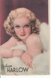Image imprimée de l'actrice Jean Harlow—Metro Goldwyn Mayer—Espagne—1942