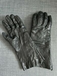 Isaac Sellam Experience Black Leather Hand Moulded Gloves size 8 Hand Molded