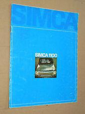 Catalogue SIMCA 1100 -1968- prospectus,brochure, prospekt