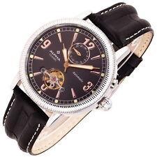ALPHA SAPHIR CLASSIC Automatik Armbanduhr, Dual Time, WR50, Glasboden, NEU+OVP