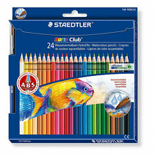 24 x Staedtler Noris Club Water Soluble Colouring Pencils - Anti-Break Leads