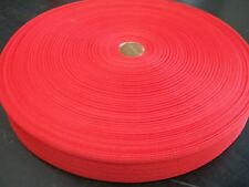 """BINDING TAPE POLYESTER 32mm 1-1/4"""" Red 100 mtrs"""