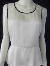 PORTMANS Womens sleeveless Cream/Black top size 8