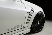 Powered by VOLVO Sport Racing Decal sticker emblem logo SILVER Pair