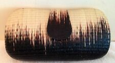 Straw Sand Clutch Bag Purse Handbag NEW Lady Womens Black Ombre Chain Only 1