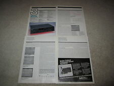 NAD 7130 Receiver Review, 1985, 5 pgs, Full Test