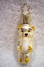 Baby Teddy Bear with Bottle,Old World Christmas,Inge-Glas,Blown Glass,Germany