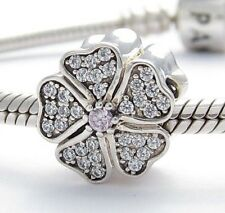 APPLE FLOWER SPRING CHARM Bead Sterling Silver .925 for European Bracelet 657
