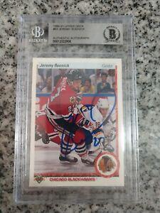 Jeremy Roenick signed 1990-91 Upper Deck RC- Chicago Blackhawks- BAS Slabbed