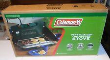 New In Box Coleman Perfect Flow 2-Burner Propane Stove Model 3000000449