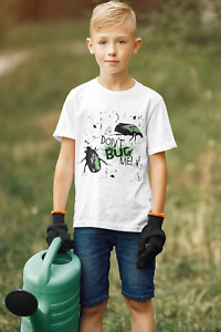 """Dirty Fingers Child's T-Shirt """"Don't Bug Me"""" Bugs Beetles Insects Cockroaches"""