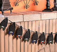 "60"" Layered Bat Garland HALLOWEEN haunted house DECORATION GLOW IN THE DARK EYES"