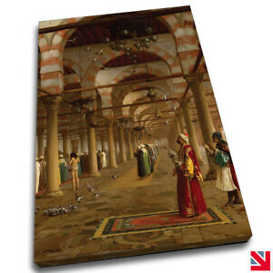 JEAN LEON GEROME PRAYER IN THE MOSQUE CANVAS Wall Art Picture Print A4
