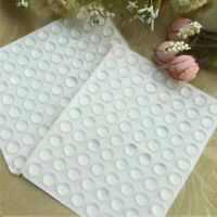 100 Pcs  Clear Rubber Feet Semicircle Bumper Door Buffer Self-Adhesive Pad