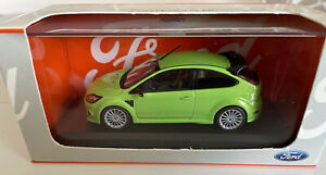 """Minichamps Ford Focus RS Ultimate Green 1:43 """"RARE FORD DEALER EDITION"""" model"""