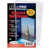 (100) Ultra Pro Postcard Soft Sleeves Archival Safe (1 Pack)