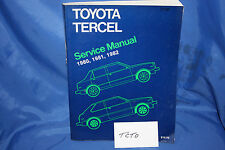 TOYOTA TERCEL Robert Bentley Factory shop manual for model years 1980-1982
