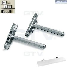 30 x Concealed Shelf Supports Brackets Floating Hidden 112 mm by GTV