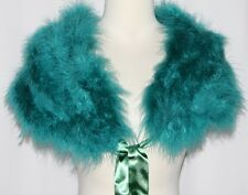 Real Feather Burlesque Gothic Goth Lolita Emo Wrap Collar Capelet Hip Scarf BELT