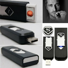 New Rechargeable USB Plasma Lighter Cigarette Gift Windproof Mini Electric Metal