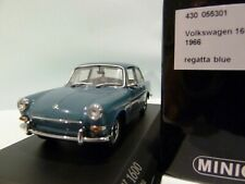 WOW EXTREMELY RARE VW Type 3 1600 Notchback 1966 Regatta Blue 1:43 Minichamps-GT