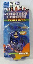 Justice League Animated Mission Vision Superman Black Costume Mattel NIP 4+ 2006