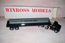 1983 Man of Steel Winross Diecast Flat Bed Truck With Beam Load