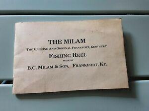 Vintage Reels,Vintage The Milam Reel Catalog,Antique Fishing Reels,Milam Reels