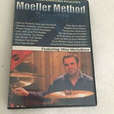 Moeller Method Secrets Mike Michalkow 2 DVDs Set Drums Instruction and Training