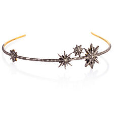 3.21 ct Pave Diamond .925 Sterling Silver Handmade Head Band Party Wear Jewelry