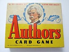 Vintage AUTHORS CARD GAME Whitman Publishing Complete