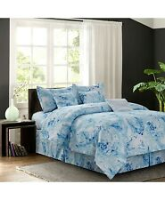 Carrera Blue 7-Piece Bed Comforter Set King Retail $294