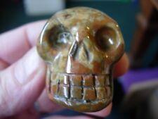 Crystal skull multi coloured agate LJ25