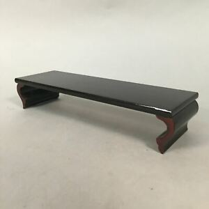 Japanese Buddhist Altar Fitting Vtg Wood Lacquer Offering Table Tray BU317