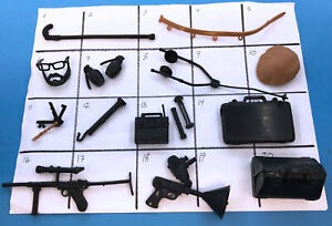 YOU PICK Marx Mike Hazard Double Agent accessories and weapons gears lot