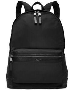 MICHAEL KORS Men Kent Lightweight Nylon Travel Work Backpack Bag Black MARK $295
