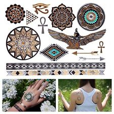 GOLDEN Tattoo Flash egyptian Ornamente Henna Jewels One time YS-44