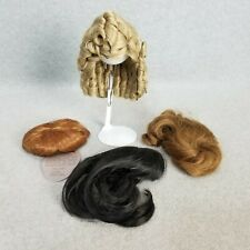 4 synthetic doll wigs wig Lot size 8 to 12 for modern vintage or antique Doll