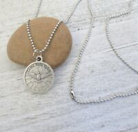 """Confirmation Pendant Necklace SILVER Dove Holy Spirit Catholic Gift 24"""" chain"""