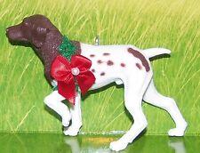 Custom Made German Shorthair Pointer Dog Puppy Holiday Christmas Ornament Hunter