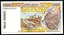 WEST AFRICAN   Ivory Coast 1000 Francs 1999  P 111A i  Uncirculated
