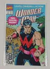 WONDER MAN #1 MARVEL COMICS COPPER AGE CLASSIC 1991 VF/NM W/ POSTER HIGH GRADE