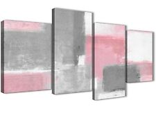 Large Blush Pink Grey Painting Abstract Living Room Canvas Decor - 4378 - 130cm