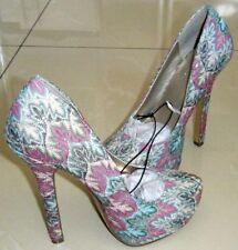 Party Floral Stilettos Heels for Women