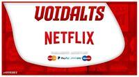 Account Per Netflix 1 mese 4 schermi 100% ITALIANO E PRIVATO